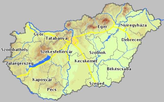 magyarország térkép kaposvár  magyarország térkép kaposvár